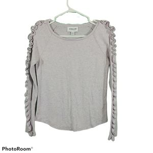 Highline Collective Small Lilac Ruffled Sleeve Top